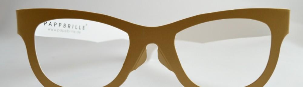 Unisex Solid Color Pappbrille Frame