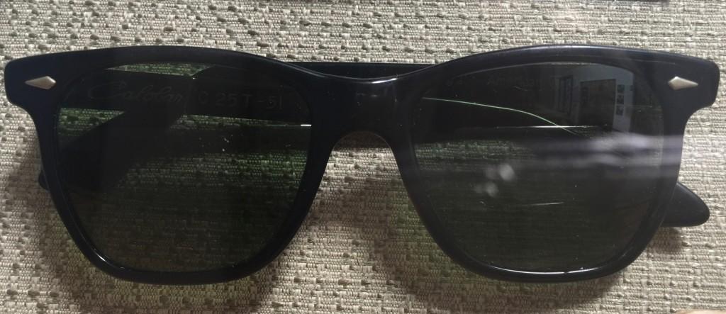 Saratoga sunglasses in black made by American Optical