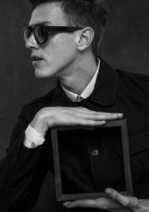 """""""BonVivant"""" sunglasses by Lunettes Kollections add the perfect finishing touch to this well-tailored dandy ensemble."""