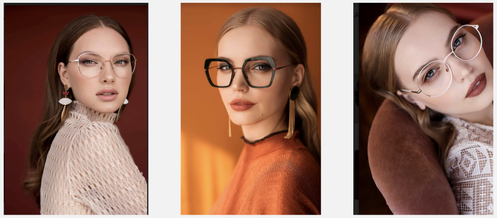 Faces of Siberian models in new marketing campaign of Caroline Abram eyewear brand