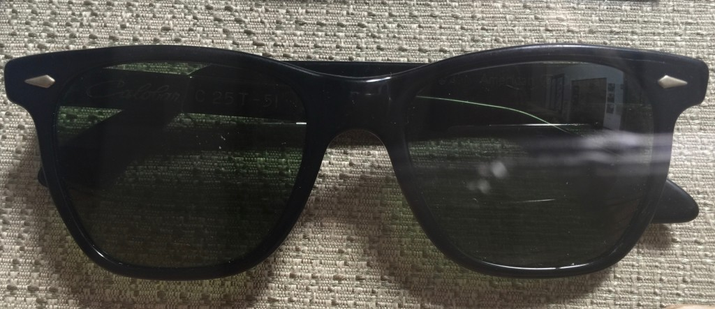 Saratoga sunglasses in black made by American Optical