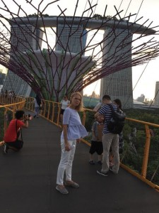 Providence Optical's Onega enjoying the view from the elevated walkway in Singapore's solar grove